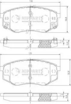 Nipparts N3600545 - Piduriklotsi komplekt,ketaspidur multiparts.ee