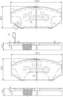 Nipparts N3608031 - Piduriklotsi komplekt,ketaspidur multiparts.ee