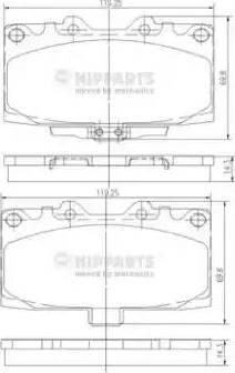 Nipparts N3607022 - Piduriklotsi komplekt,ketaspidur multiparts.ee