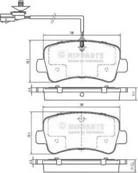 Nipparts N3611057 - Piduriklotsi komplekt,ketaspidur multiparts.ee
