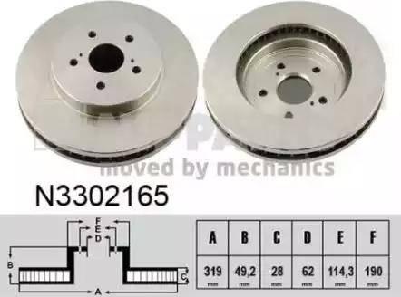 Nipparts N3302165 - Piduriketas multiparts.ee