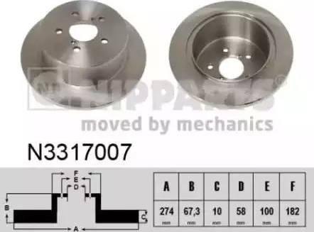 Nipparts N3317007 - Piduriketas multiparts.ee