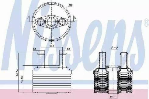 Nissens 90664 - Õliradiaator, automaatkast multiparts.ee