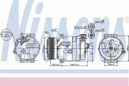 Nissens 89057 - Kompressor,kliimaseade multiparts.ee