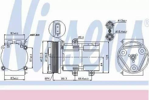 Nissens 89068 - Kompressor,kliimaseade multiparts.ee