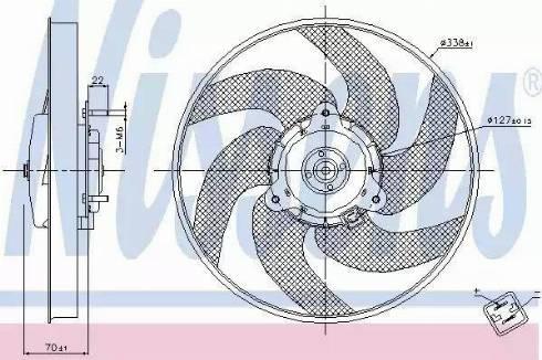 Nissens 85667 - Ventilaator,mootorijahutus multiparts.ee
