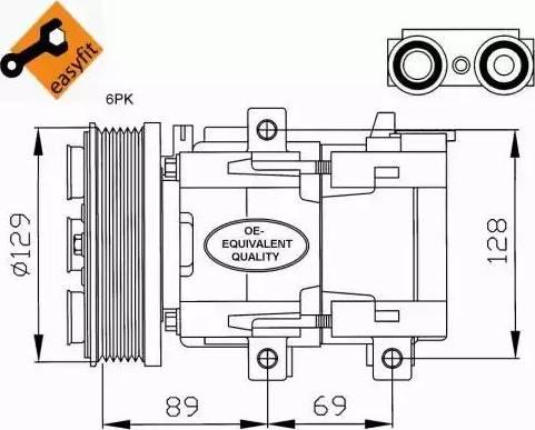 NRF 32212 - Kompressor,kliimaseade multiparts.ee