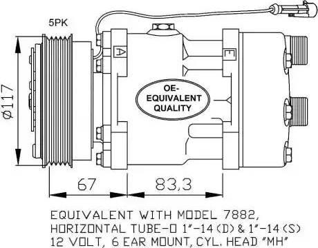 NRF 32779 - Kompressor,kliimaseade multiparts.ee