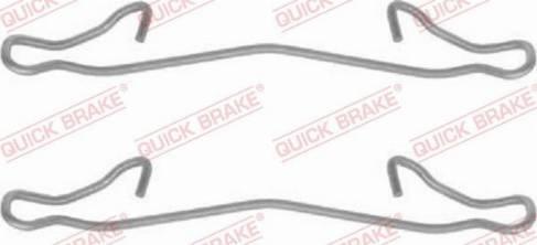 OJD Quick Brake 1091121 - Lisakomplekt, ketaspiduriklotsid multiparts.ee