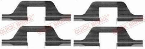 OJD Quick Brake 1091263 - Lisakomplekt, ketaspiduriklotsid multiparts.ee