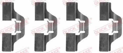 OJD Quick Brake 1091211 - Lisakomplekt, ketaspiduriklotsid multiparts.ee