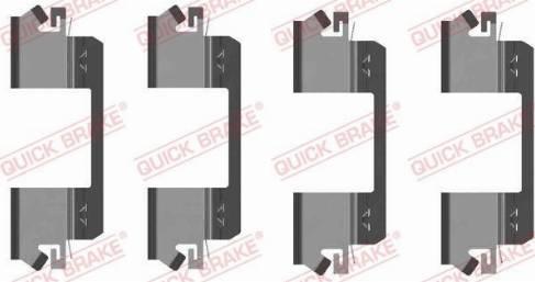 OJD Quick Brake 1091234 - Lisakomplekt, ketaspiduriklotsid multiparts.ee