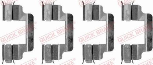 OJD Quick Brake 1091230 - Lisakomplekt, ketaspiduriklotsid multiparts.ee