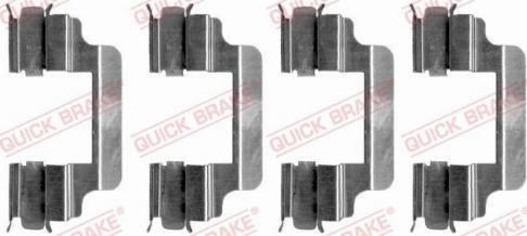 OJD Quick Brake 109-1231 - Lisakomplekt, ketaspiduriklotsid multiparts.ee