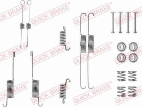 OJD Quick Brake 1050615 - Lisakomplekt, Piduriklotsid multiparts.ee