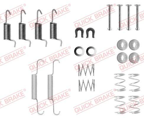 OJD Quick Brake 1050871 - Lisakomplekt, seisupiduriklotsid multiparts.ee
