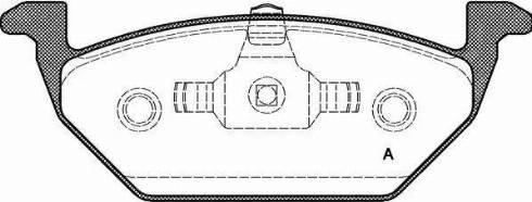 Open Parts BPA0633.20 - Piduriklotsi komplekt,ketaspidur multiparts.ee