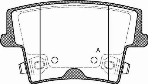 Open Parts BPA1127.08 - Piduriklotsi komplekt,ketaspidur multiparts.ee
