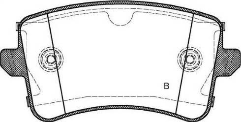 Open Parts BPA1343.10 - Piduriklotsi komplekt,ketaspidur multiparts.ee