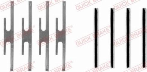 QUICK BRAKE 109-0975 - Lisakomplekt, ketaspiduriklotsid multiparts.ee