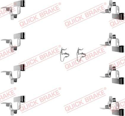 QUICK BRAKE 1091191 - Lisakomplekt, ketaspiduriklotsid multiparts.ee
