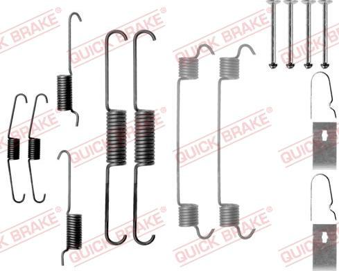 QUICK BRAKE 105-0803 - Lisakomplekt, Piduriklotsid multiparts.ee