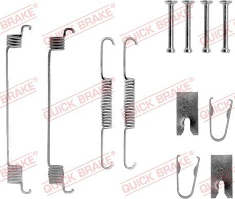 QUICK BRAKE 105-0789 - Lisakomplekt, Piduriklotsid multiparts.ee