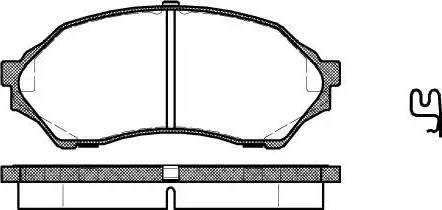 Remsa 0699.00 - Piduriklotsi komplekt,ketaspidur multiparts.ee