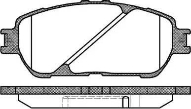 Remsa 0898.00 - Piduriklotsi komplekt,ketaspidur multiparts.ee
