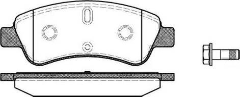 Remsa 0840.10 - Piduriklotsi komplekt,ketaspidur multiparts.ee