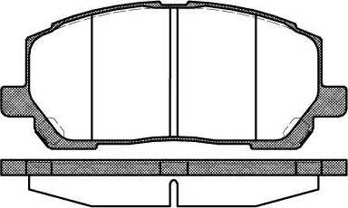Remsa 0855.00 - Piduriklotsi komplekt,ketaspidur multiparts.ee