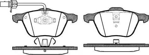 Remsa 0836.02 - Piduriklotsi komplekt,ketaspidur multiparts.ee