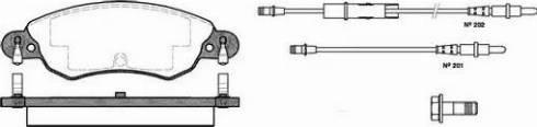 Remsa 0829.04 - Piduriklotsi komplekt,ketaspidur multiparts.ee