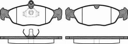 Remsa 0393.00 - Piduriklotsi komplekt,ketaspidur multiparts.ee