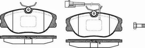 Remsa 0305.12 - Piduriklotsi komplekt,ketaspidur multiparts.ee