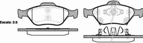 Remsa 0766.12 - Piduriklotsi komplekt,ketaspidur multiparts.ee