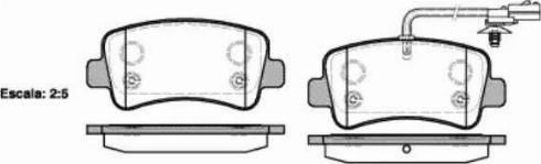 Remsa 1439.01 - Piduriklotsi komplekt,ketaspidur multiparts.ee