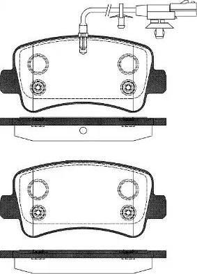 Remsa 1439.11 - Piduriklotsi komplekt,ketaspidur multiparts.ee