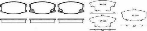 Remsa 1037.00 - Piduriklotsi komplekt,ketaspidur multiparts.ee