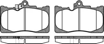 Remsa 1180.02 - Piduriklotsi komplekt,ketaspidur multiparts.ee