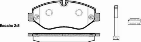 Remsa 1245.10 - Piduriklotsi komplekt,ketaspidur multiparts.ee