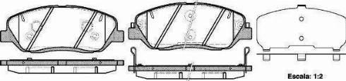 Ashika 50-0H-H14 - Piduriklotsi komplekt,ketaspidur multiparts.ee