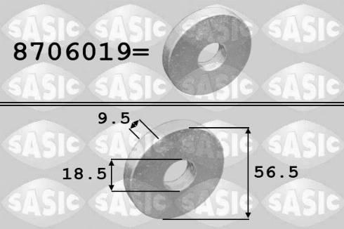 Sasic 8706019 - Alusseib,rihmaratas-väntvõll multiparts.ee