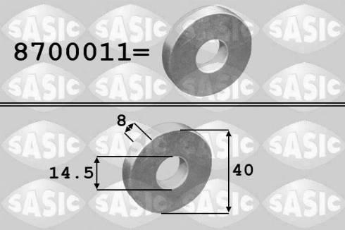Sasic 8700011 - Alusseib,rihmaratas-väntvõll multiparts.ee
