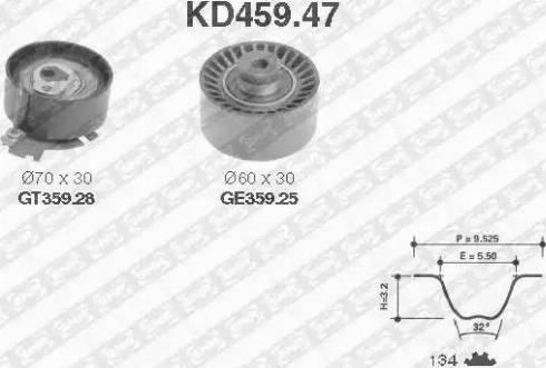 SNR KD459.47 - Hammasrihma komplekt multiparts.ee