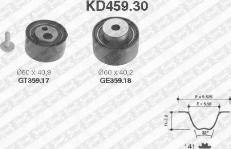 SNR KD459.30 - Hammasrihma komplekt multiparts.ee