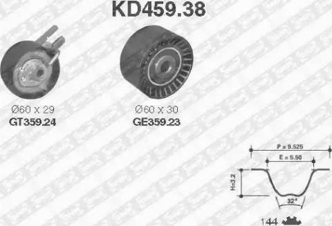 SNR KD459.38 - Hammasrihma komplekt multiparts.ee