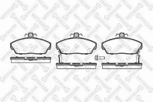 Stellox 348 002B-SX - Piduriklotsi komplekt,ketaspidur multiparts.ee