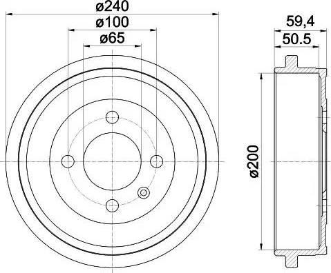 Textar 94022800 - Piduritrummel multiparts.ee