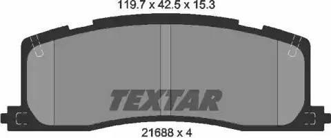 Textar 2168801 - Piduriklotsi komplekt,ketaspidur multiparts.ee